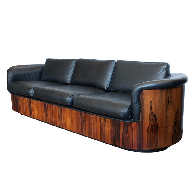 George Mulhauser for Plycraft Rosewood Case Sofa - Image 4 of 11