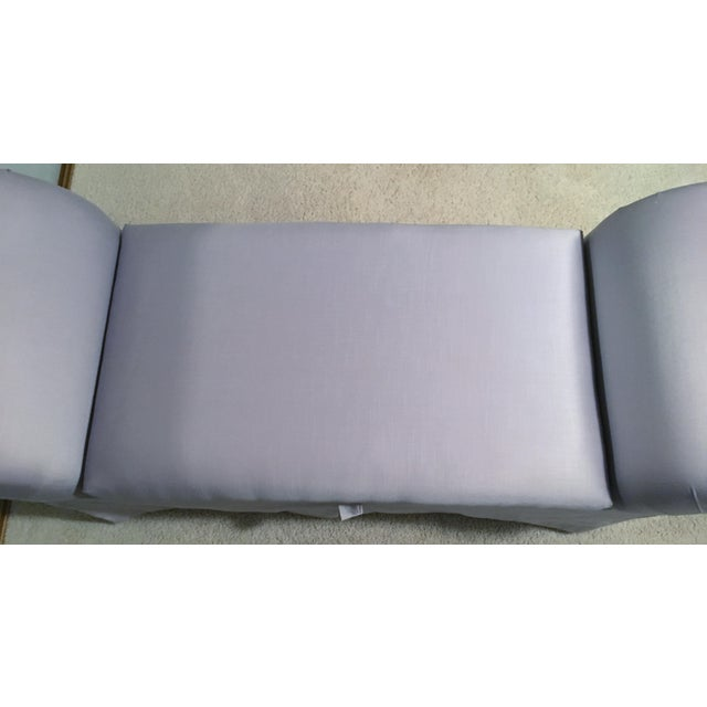1980s Lavender Chaise Lounge Chair/Bench For Sale - Image 5 of 8