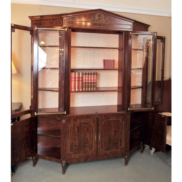 French Custom-Made Maison Jansen Rosewood Breakfront For Sale - Image 3 of 10