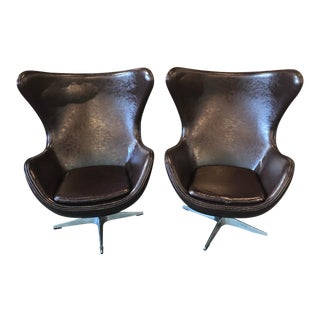 Mid-Century Style Contemporary Egg Chairs- A Pair For Sale