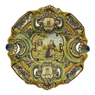 19th Century French Faience Charger For Sale