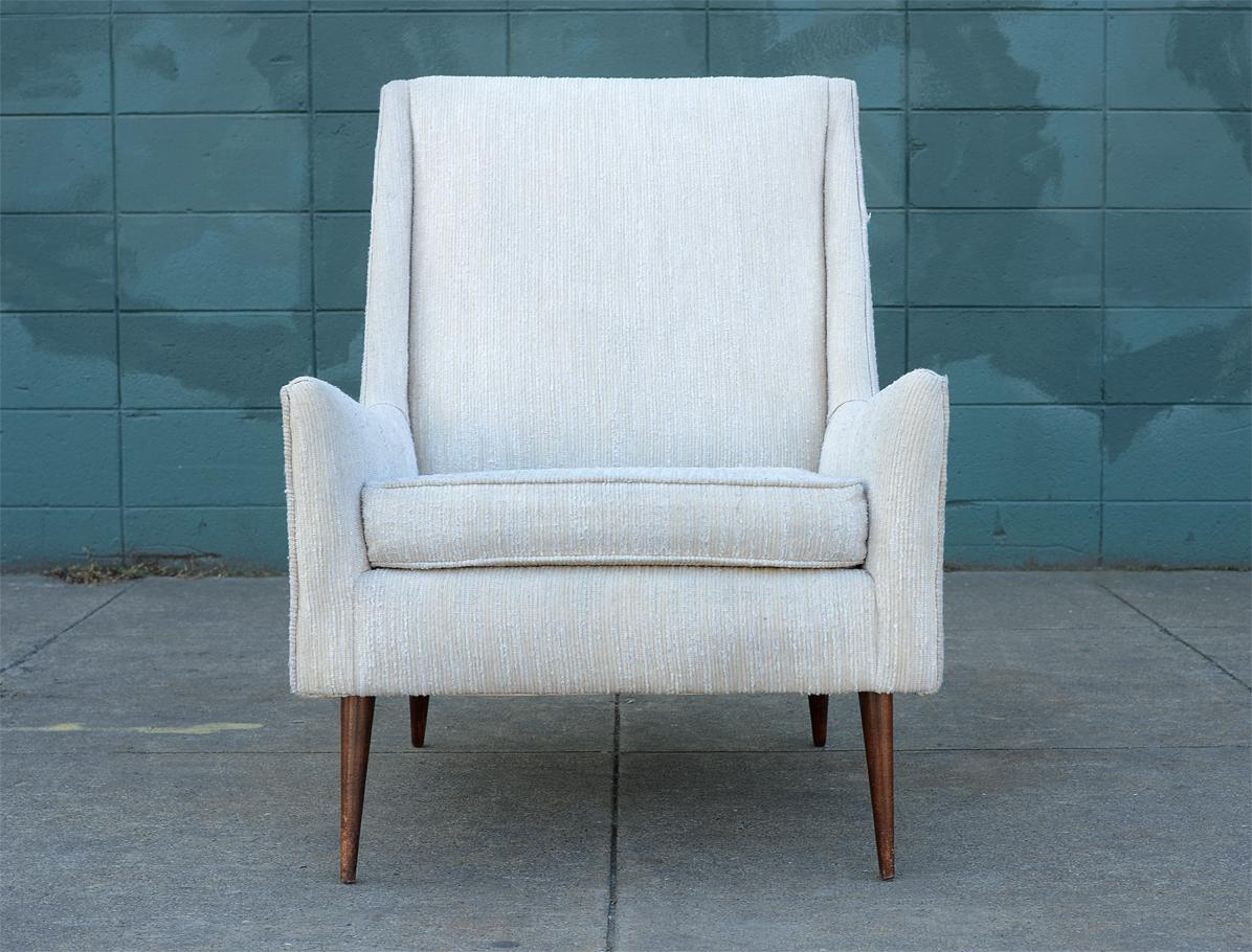 1950s Mid Century Modern Upholstered Lounge Chair   Image 2 Of 11
