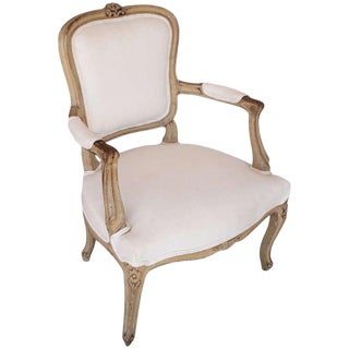 Early 20th Century Antique Louis XV Style Armchair For Sale