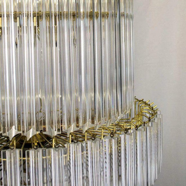 1960s 1960's Lucite Acrylic Cascading Chandelier from the University of Northern Colorado's Grand Ballroom For Sale - Image 5 of 7