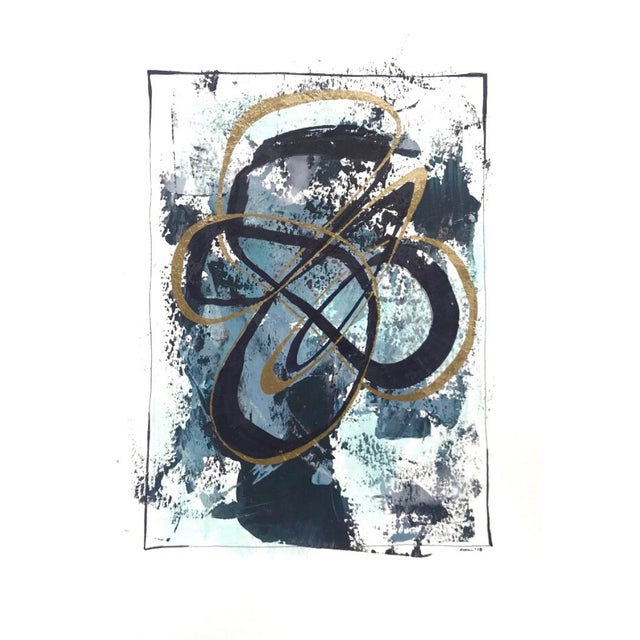 """Modern Original """"Orbits and Comets"""" Mixed Media by Christy Almond For Sale - Image 11 of 12"""