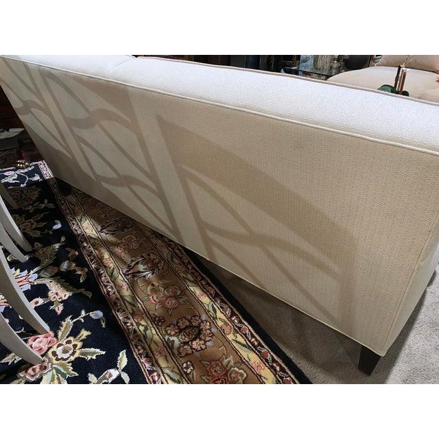 Wood Ethan Allen Tuxedo Sofa For Sale - Image 7 of 10