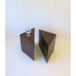 Modern Geometric Square Side Table or Two-Part Drinks Table Preview