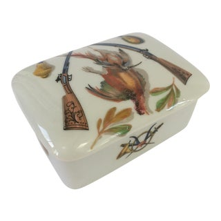 Limoges Pheasant Hunting Porcelain Box For Sale