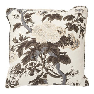 Schumacher Double-Sided Pillow in Pyne Hollyhock Print