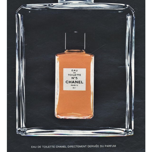 Contemporary Matted Mid-Century Chanel Perfume Advertising Print For Sale - Image 3 of 4
