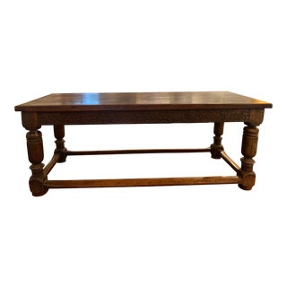 16th Century British Hand Carved Dining Table For Sale