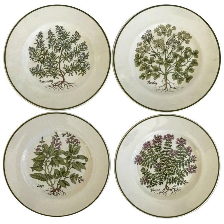 Tiffany \u0026 Co. \ Herbs\  Plates - Set of 4  sc 1 st  Chairish & Tiffany \u0026 Co. \