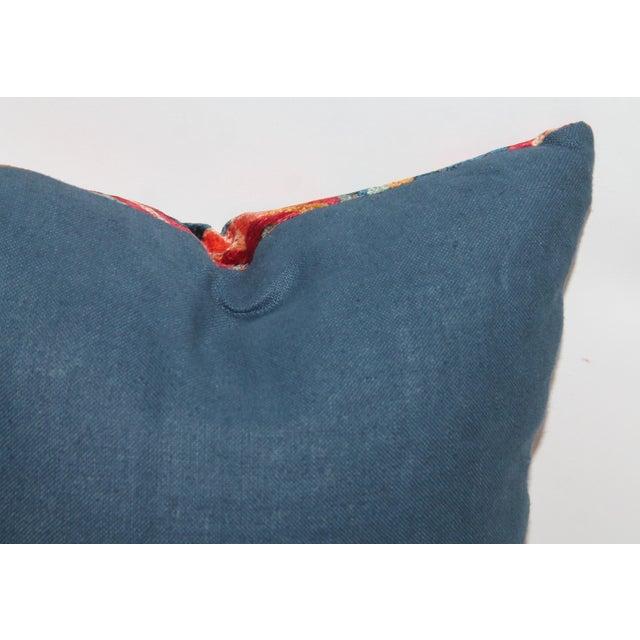 Patterned Velvet Pillow For Sale - Image 5 of 5
