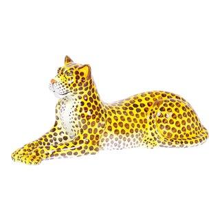 Midcentury Terracotta Leopard For Sale
