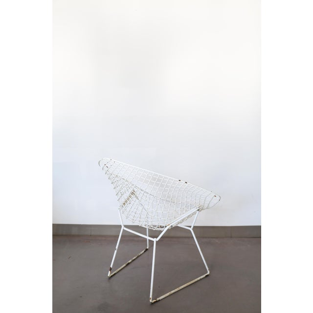 White Bertoia Diamond Chair by Knoll - Image 4 of 6