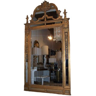 Massive Gilded Mirror For Sale
