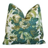 "Image of Designer Michael Smith/Jasper Grace Floral Feather/Down Pillow 21"" Square For Sale"