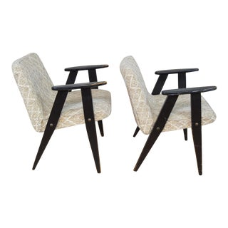 Petite Mid Century Modern Scissor Leg Chairs in the Style of Pierre Jeanerret - a Pair