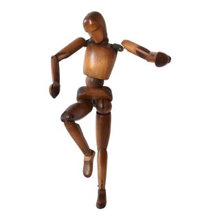 French Carved Wooden Artist's Lay Figure Mannequin For Sale