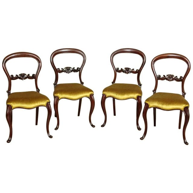 Brown 19th Century Louis Philippe Mahogany Chairs Circa 1880 - Set of 4 For Sale - Image 8 of 8
