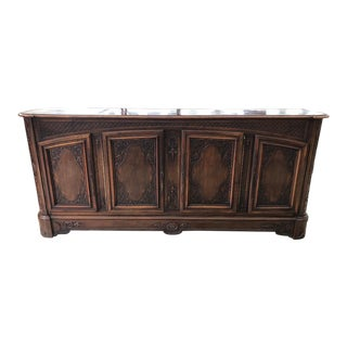 19th Century French Lyonnaise Carved Walnut Enfilade For Sale