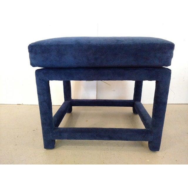 Thayer Coggin 1930s Mid-Century Modern Milo Baughman for Thayer Coggin Fabric Stool For Sale - Image 4 of 11