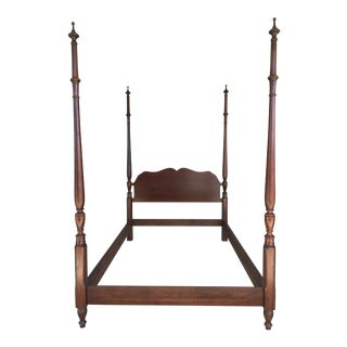 Pennsylvania House Solid Cherry Chippendale Style Double Poster Bed For Sale