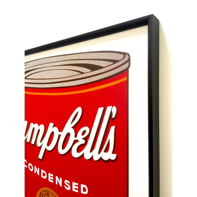 """Black Andy Warhol Foundation Vintage Large Framed Lithograph Print Iconic Pop Art Poster """" Campbell's Soup I ( Tomato ) """" 1968 For Sale - Image 8 of 13"""