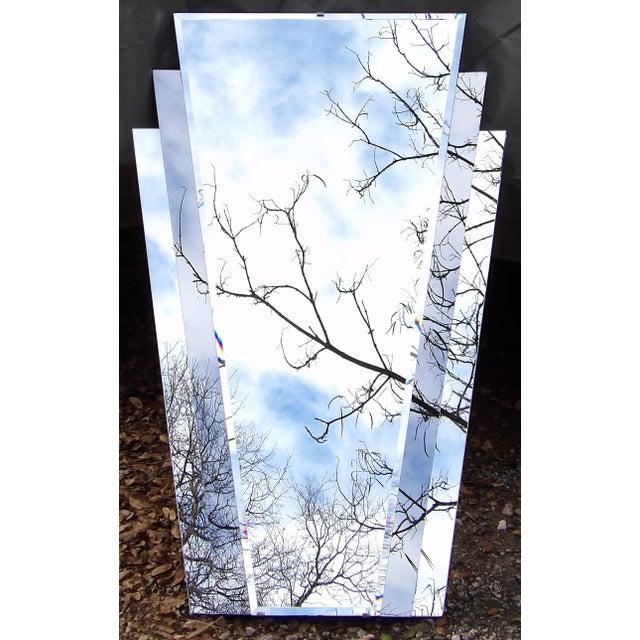 Mid Century Modern Art Deco Fan Mirror For Sale - Image 4 of 4