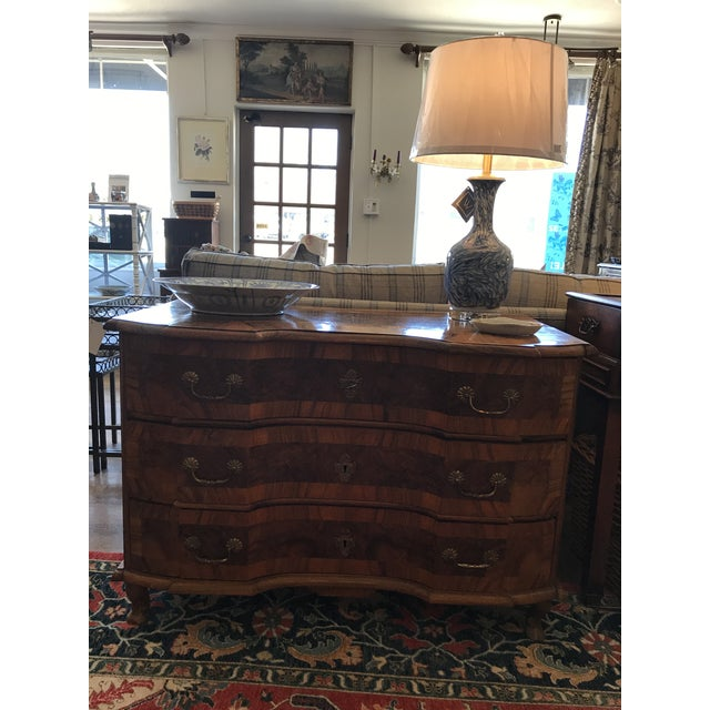 18th Century Italian Burl Walnut Chest of Drawers For Sale - Image 9 of 10