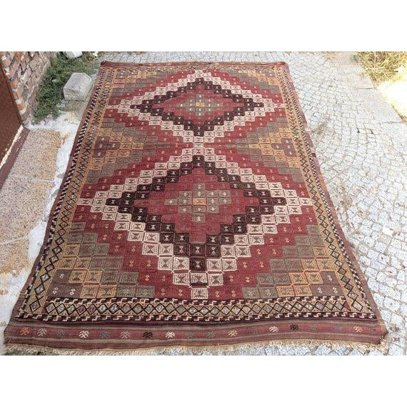 Vintage Turkish Anatolian Rug - 5′6″ × 9′1″ For Sale - Image 6 of 6