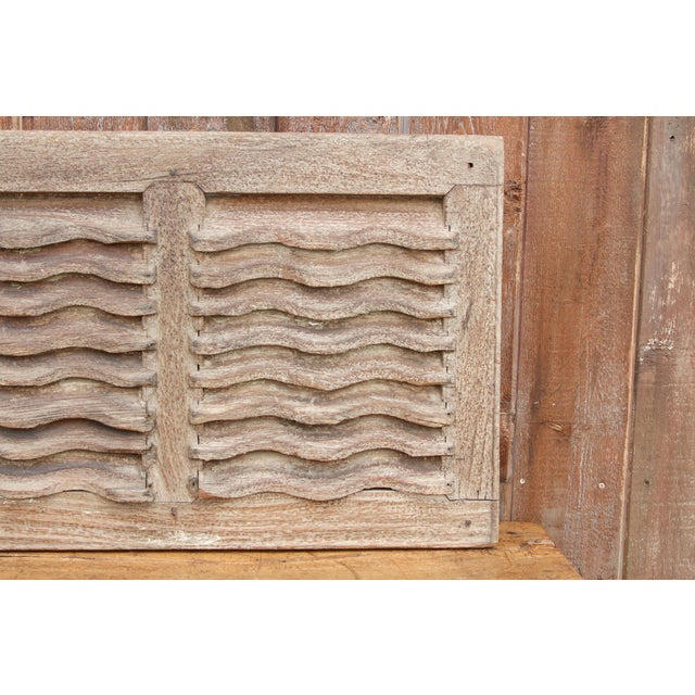 19th Century Rustic Primitive Window Shutter For Sale In Los Angeles - Image 6 of 9