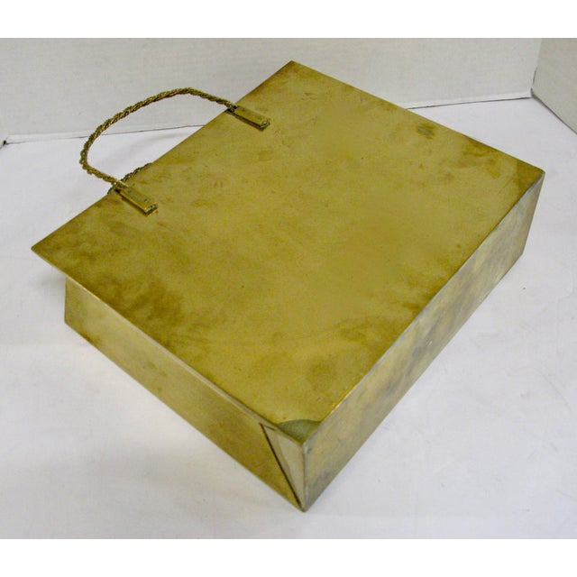Hollywood Regency Circa 1970 Brass Shopping Bag - Image 3 of 7
