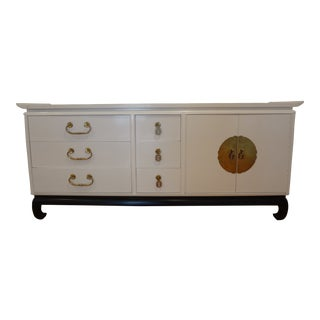 Lacquered Mid-Century Asian Modern Sideboard For Sale