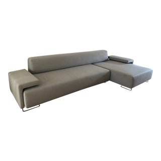 Contemporary Italian Patricia Urquiola for Moroso Gray Sectional For Sale