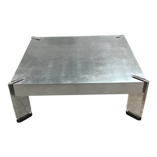 Belle Meade Silver Cocktail Table For Sale