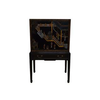 20th Century Asian Style Henredon Liquor Cabinet Bar For Sale