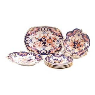 Royal Crown Derby King's Pattern China Serving Pieces - Set of 8