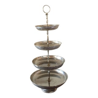 Late 20th Century International Silver 4-Tier Cake Stand For Sale
