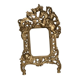Antique Brass George and the Dragon Picture Frame For Sale