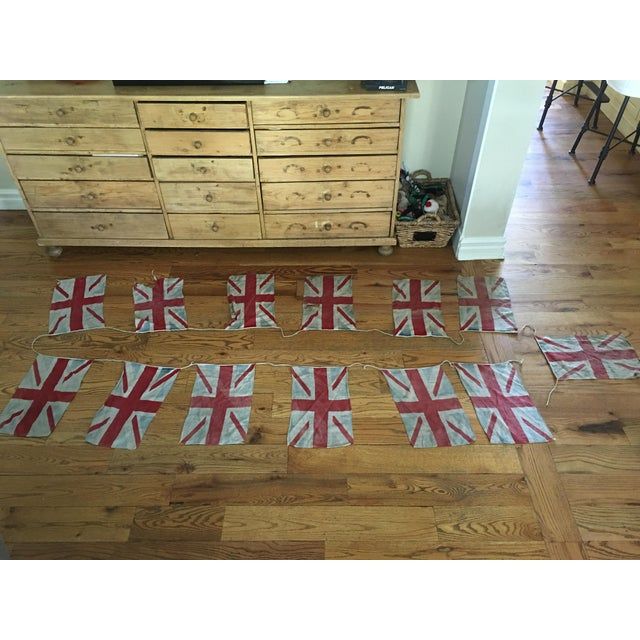 Original Union Jack Bunting from Britain. This piece has so much history and character. The linen bunting is connected by...