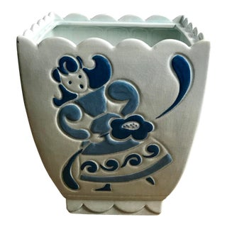 Early 20th Century Brayton's Laguna Beach California Pottery Planter/Jar For Sale