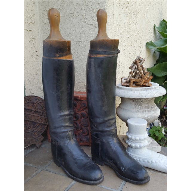 Edwardian English Riding Boots and Lasts - Image 3 of 4