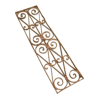 Vintage Decorative Distressed Iron Panel For Sale