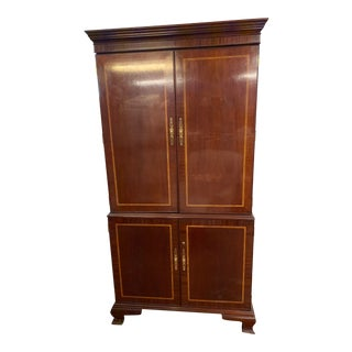 1990s Council Furniture Mahogany Armoire For Sale