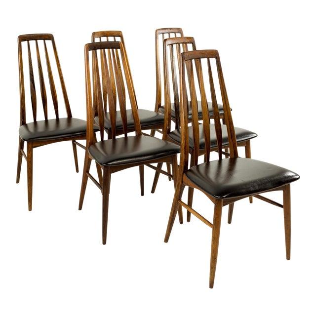 Mid-Century Modern Niels Koefoed Hornslet Rosewood Eva Dining Chairs - Set of 6 For Sale