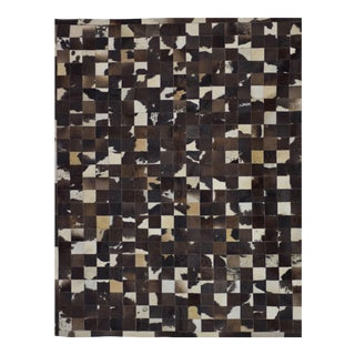 """Handmade Cowhide Patchwork Area Rug - 6′6"""" X 8' For Sale"""