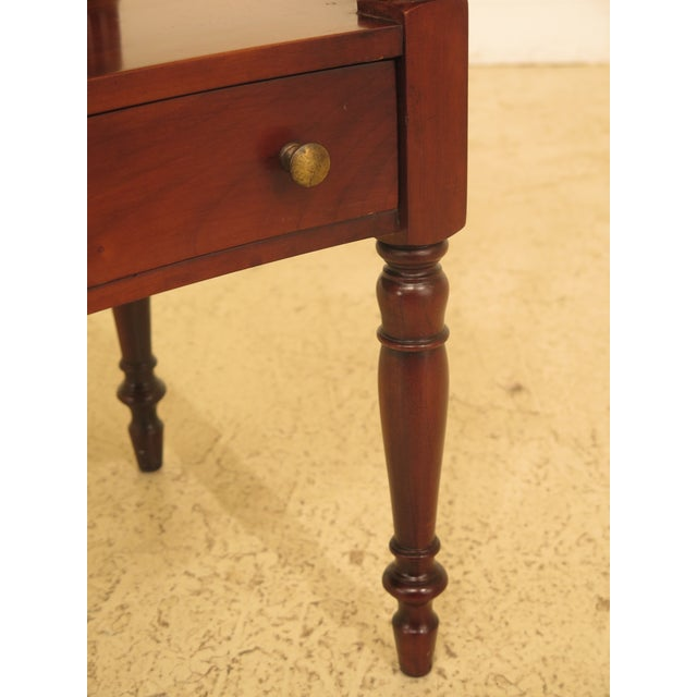 Traditional 1980s Traditional Statton Solid Cherry 1 Drawer Nightstand Table For Sale - Image 3 of 9