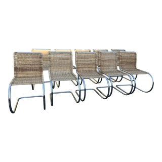 Mies Van Der Rohe Mr Reproduction Chairs - Set of 10 For Sale
