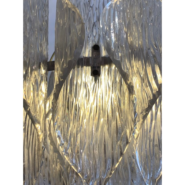 Mid Century Modern Lucite Chandelier With Layered Petals For Sale - Image 4 of 7
